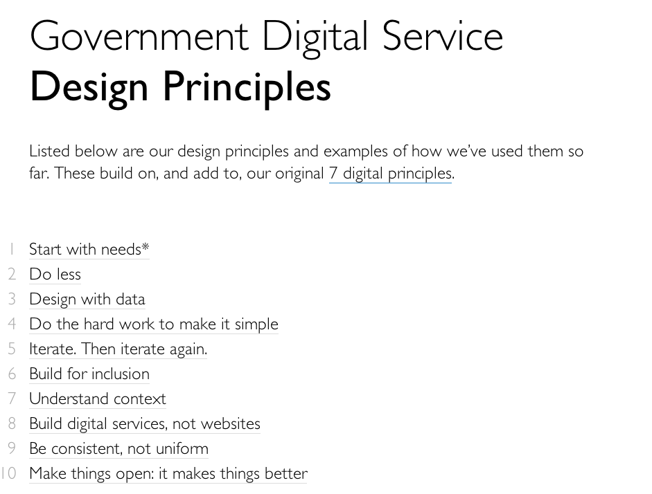 Service Innovation � Blog Archive � Government design guidelines